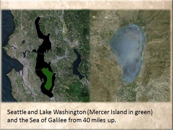 Lake Washington and the Sea of Galilee in comparison.